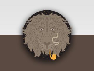 Smoking Lion